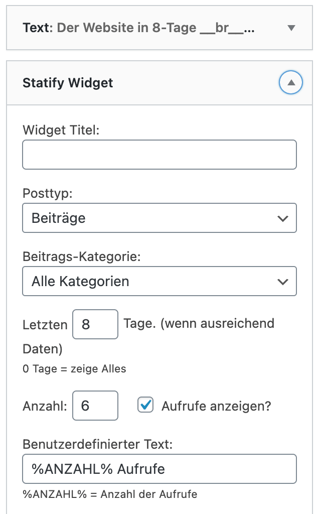 BF-statify-widget
