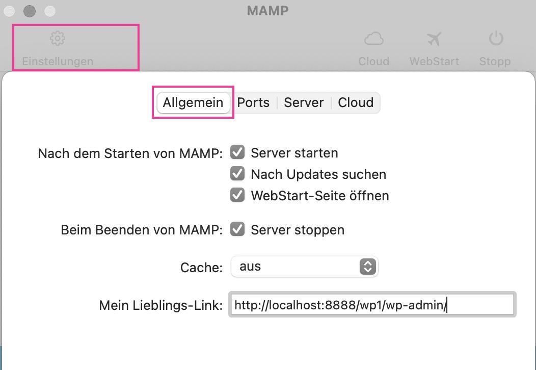 MAMP_allgemein