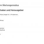 WordPress Website über Wartungsmodus deaktivieren