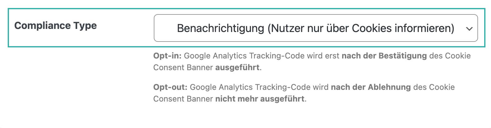 Google Analytics Germanized-compliance Type-info-cookies
