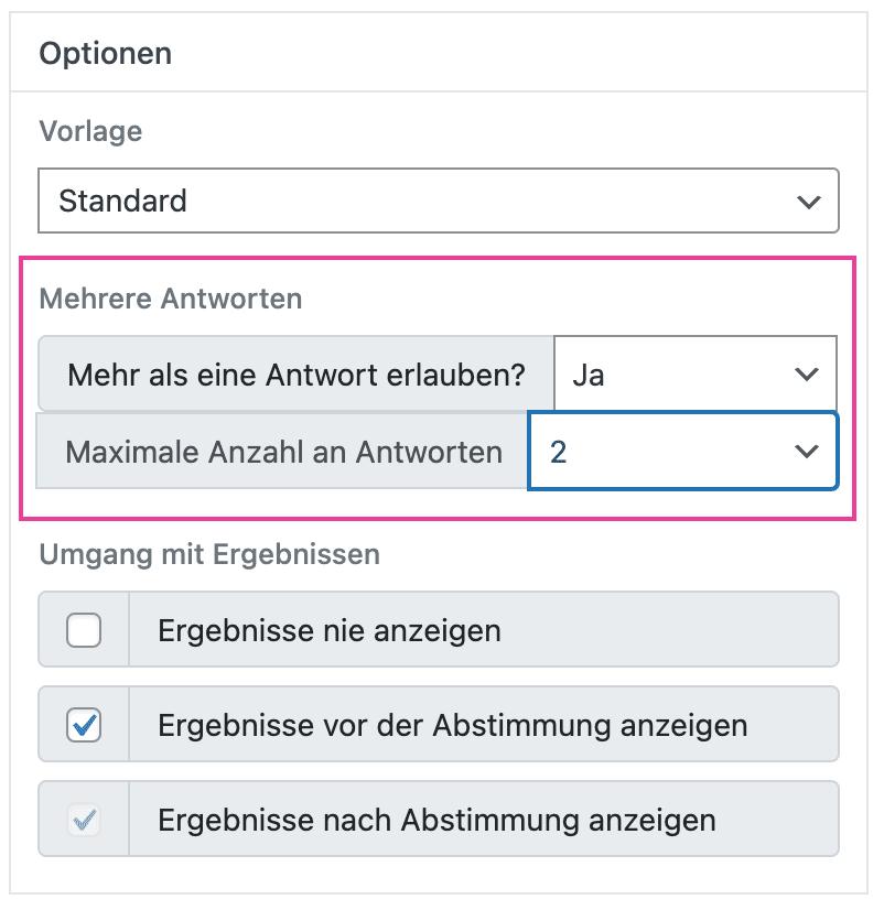 Modern-Polls-umfrage-erstellen-optionen