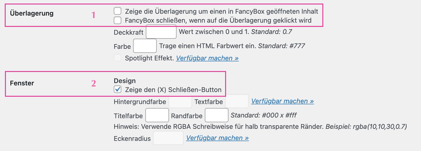Easy FancyBox-überlagerung-fenster